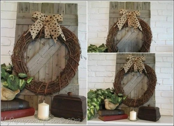 rustic mantel decor