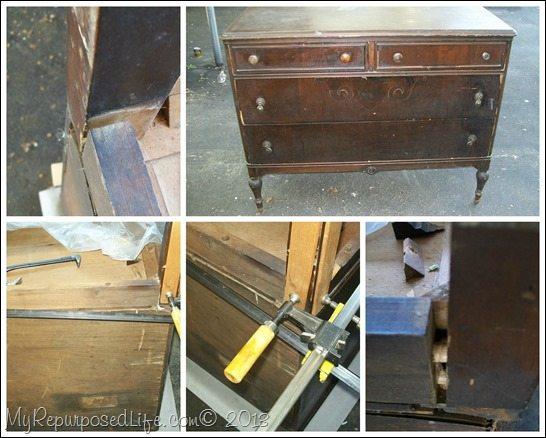 vintage dresser makeover
