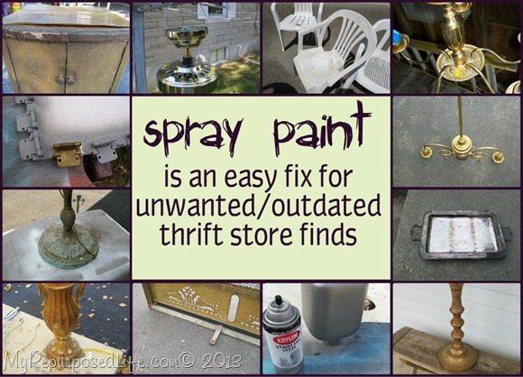 My Repurposed Life {spray paint-easy fix}