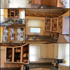 Buy Old Kitchen Cabinets Bar Height Island Updated With Paint Trim My Repurposed Life How To Update And