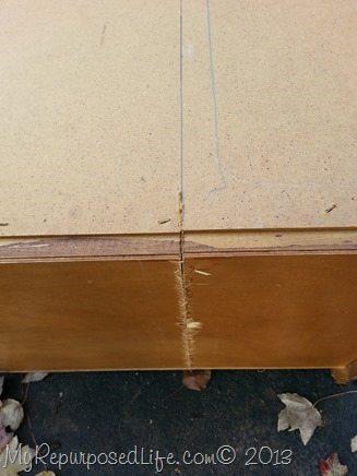 cut a dresser in half