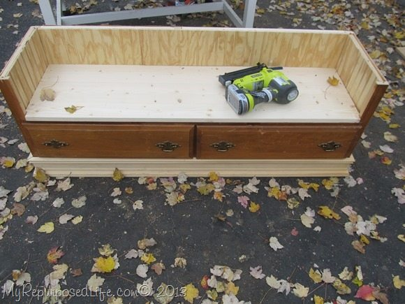 diy dresser made into a bench
