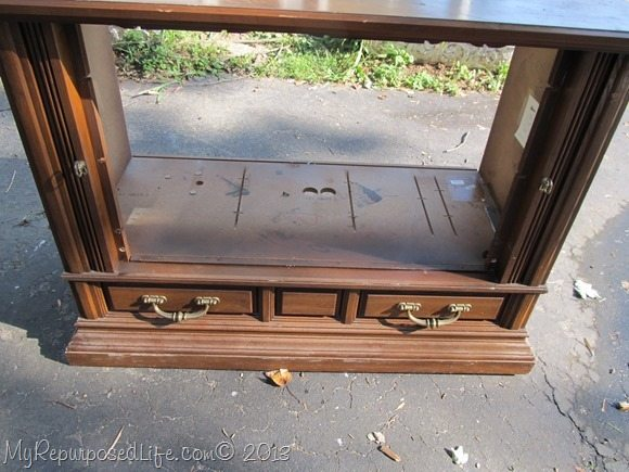 repurposed t.v. cabinet