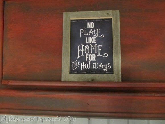 rustic framed home for the Holidays
