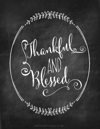 thankful and blessed free printable