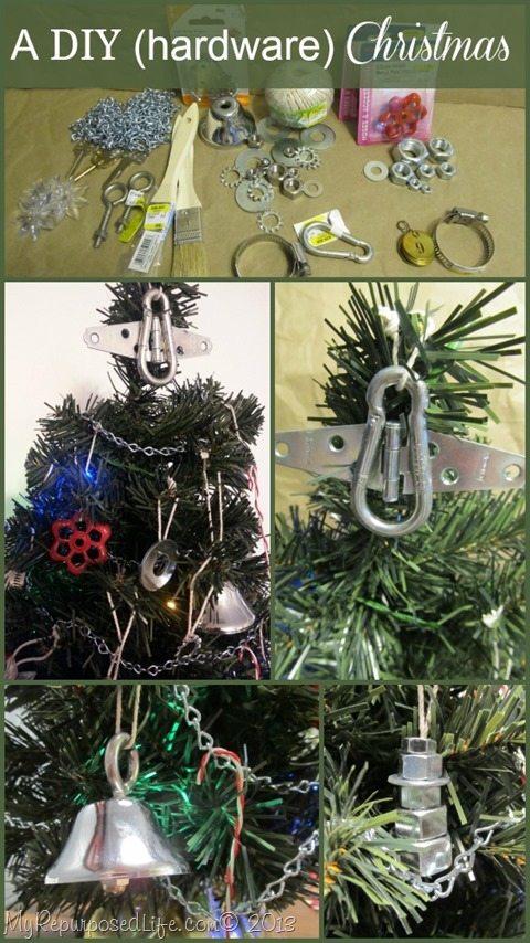 hardware items as Christmas decor