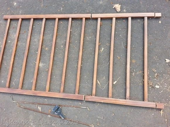 cut crib rails for dog gate