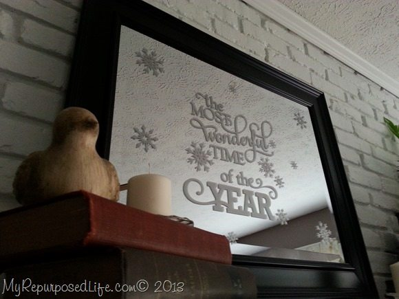 The Most Wonderful Time of the Year Christmas mirror