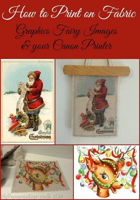 graphics fairy Christmas images printed on fabric