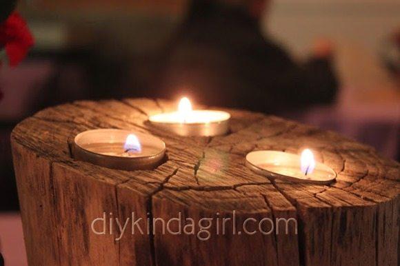 diy-wedding-details-log-candle-holder