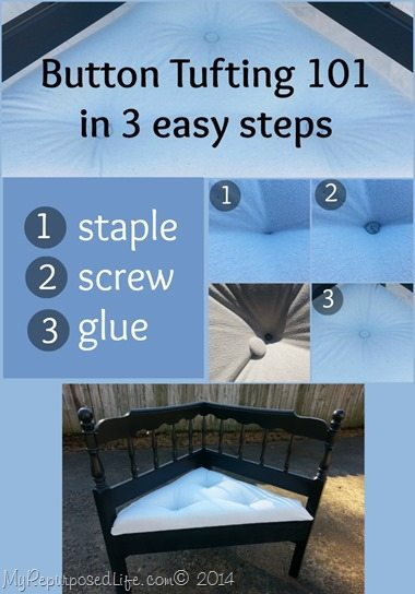 Button Tufting 101 3 easy steps  My Repurposed Life