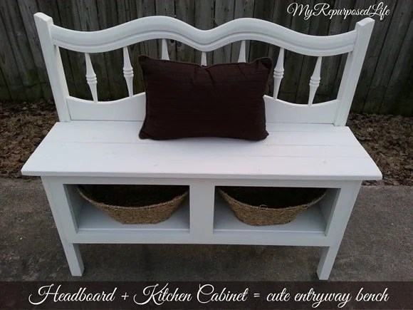 50 Headboard Bench Ideas My Repurposed Life 174 Rescue Re