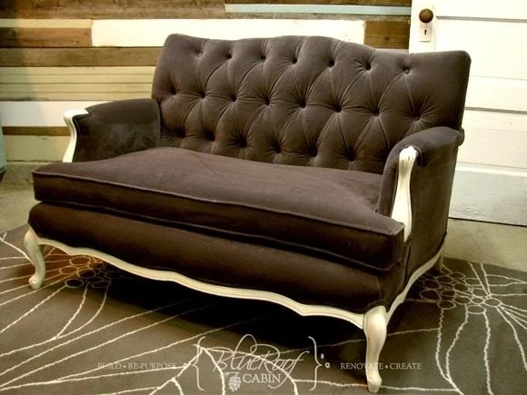 amazing button tufted loveseat