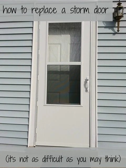 How to replace a storm door - My Repurposed Life®