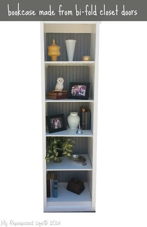 Bi Fold Door Bookshelf My Repurposed Life 174 Rescue Re