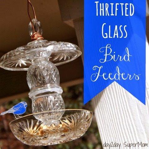 thrifted-glass-bird-feeders
