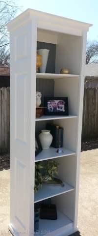 Bi-fold door bookshelf - My Repurposed Life