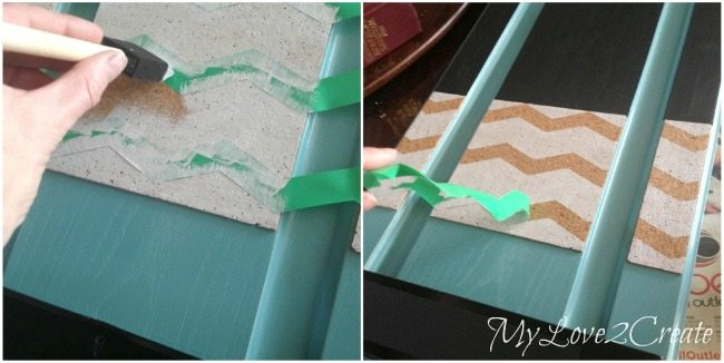 Pull paint away from the stencil to get crisp clean lines