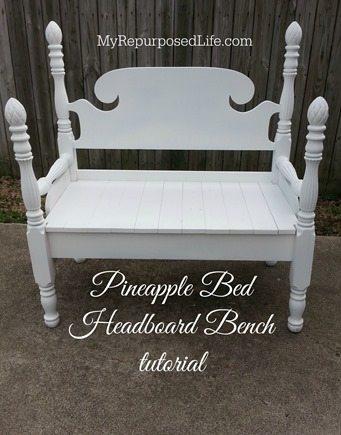 MyRepurposedLife pineapple bed bench tutorial