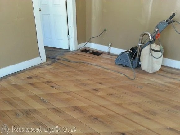 Tips For Sanding Vintage Hardwood Floors My Repurposed Life