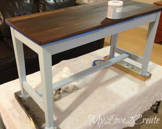 painting bench legs