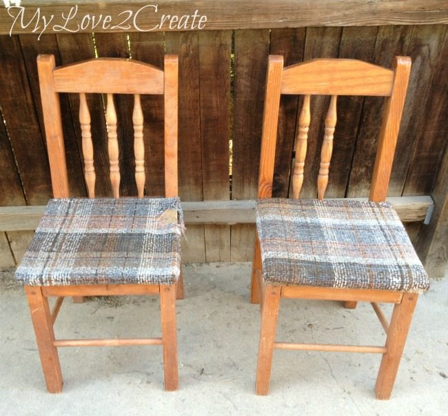 Before picture of old chairs