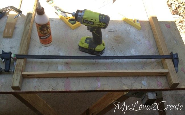 Attaching bottom support boards for entry table