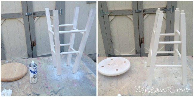 spray painting stool