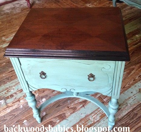 sewing-cabinet-makeover-harlequin-stained-pattern