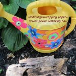 how to decoupage watering can