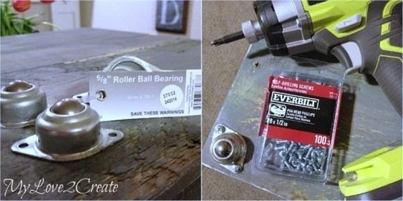 adding roller ball bearing casters