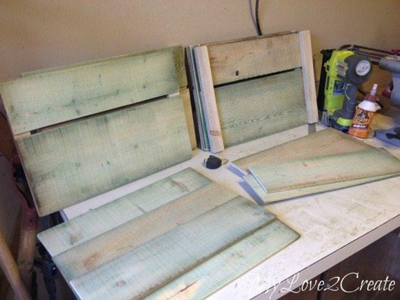 Crate sides built