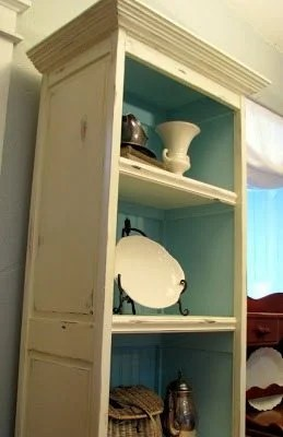 bi-fold door bookcase