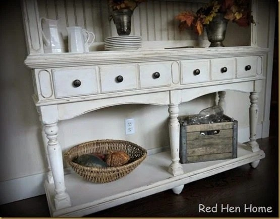 country-white-hutch-china-cabinet