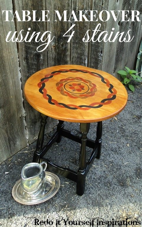 table makeover 4 stains