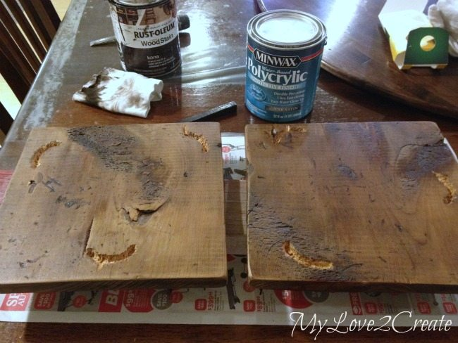 Applying poly to wood
