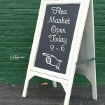DIY Chalkboard Easel using Cabinet Doors