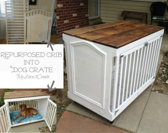 how to repurpose a recalled crib into a great dog crate