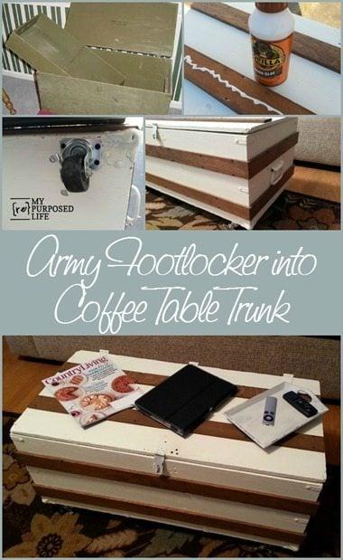 Army Footlocker Coffee Table