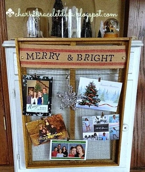 thrift-store-find-Christmas-card-holder