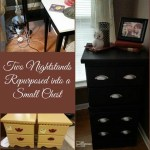 Repurposed Nightstands create Vertical Storage