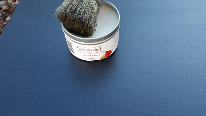 waxed diy chalk paint