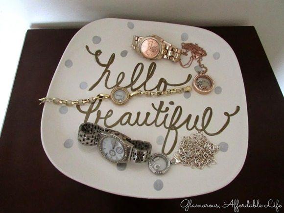 metallic-paint-jewelry-holder