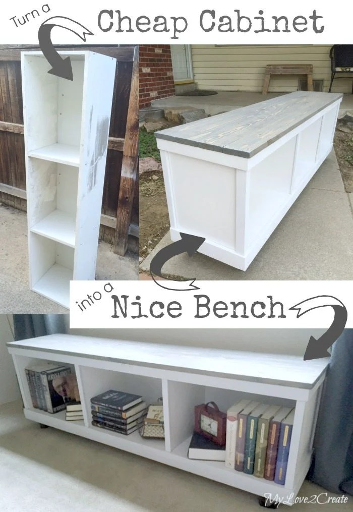 Cheap cabinet into a Nice Bench