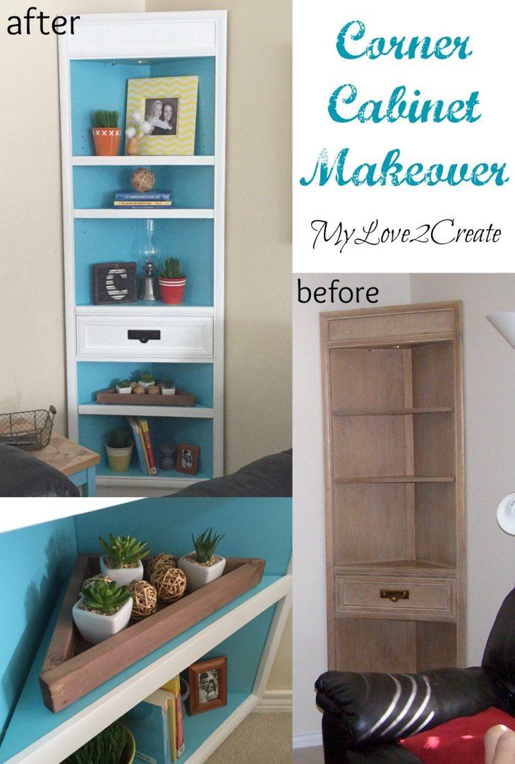 MyLove2Create, Corner Cabinet Makeover