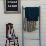 DIY Blanket Ladder with Repurposed Spindles