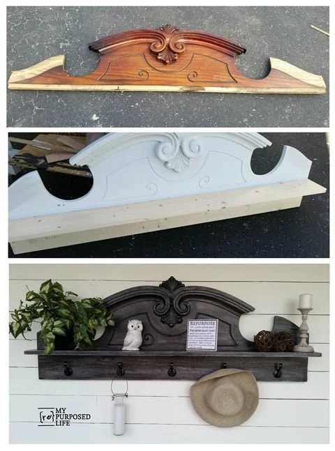 MyRepurposedLife-before-after-china-hutch-pediment-coat-rack-shelf