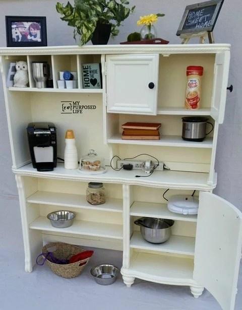 MyRepurposedLife-kitchen-coffee-charging-station