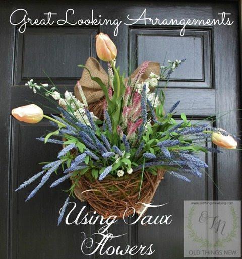 faux-flower-arrangement-front-door