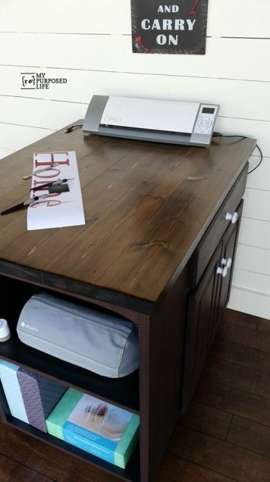 Diy Craft Station Or Kitchen Island Made From A Kitchen
